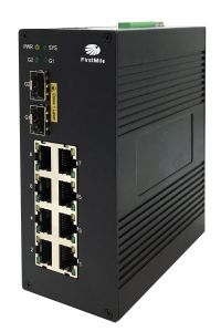 Gigabit Fiber Industrial Ethernet Switch with Poe Ports IEEE 802.3at pictures & photos