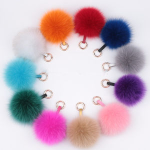 Custom Fur Winter Hat Fox Fur POM POM Key Ring pictures & photos