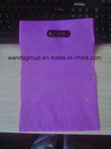 Purple Pink Plastic Die Cut Bag with Paper Insert pictures & photos