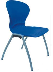Steel Pipe Plastic Dining Chair with Metal Frame pictures & photos
