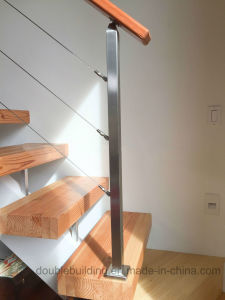 Stainless Steel Cable / Wire Railing / Balustrade with Round Post and Square Handrail pictures & photos
