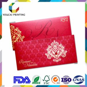New Design Creative Irregular Paper Wedding Cards pictures & photos