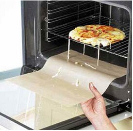 Easy Cleaning PTFE Fiberglass Fabric Teflon Disposable Oven Liners pictures & photos