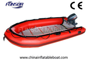 Plywood Floor, Inflatable Raft PVC Hypalon Boat (FWS-A480) pictures & photos