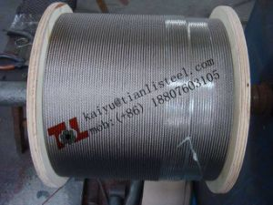 304 Stainless Steel Wire Rope 7*37 pictures & photos