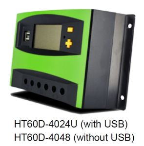Ht60d Series 40A 50A 60A PWM Solar Charge Controller pictures & photos
