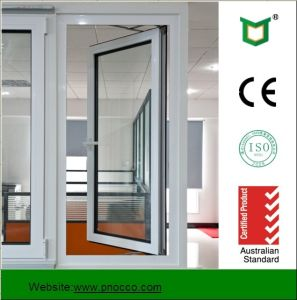 As2047 Double Glazed Windows, Aluminium Frame Casement Glass Window with Mosquito Net pictures & photos