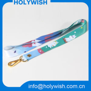 Wholesale Polyester Printed Sublimation Lanyard with Gold Metal Hook pictures & photos