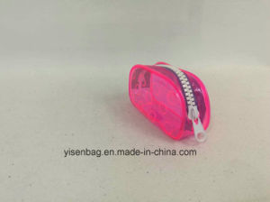 Clear PVC Eco-Friendly Material Cosmetic Bag with Big Zipper pictures & photos