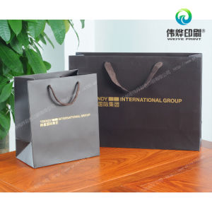 Two Kinds of Printing Luxury Paper Gift Packaging Bags pictures & photos