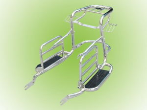 Luggage Rack with Foot pedal and Saddlebag Support (WY125, HONDA 125)