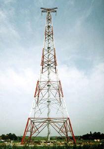 Four-Leg Tubular Transmission Line Tower