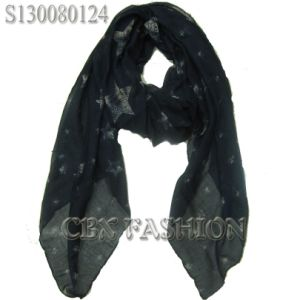 2013 New Style Stars Print Scarf/Fashion Women′s Shawls (S130080124)