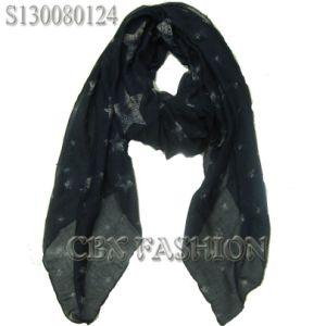2013 New Style Stars Print Scarf/Fashion Women′s Shawls (S130080124)