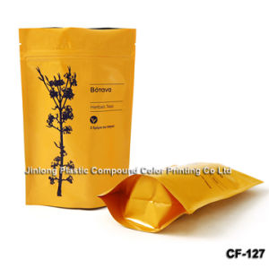 250g Zipper Stand up Foil Tea Bag with Bottom Gusset pictures & photos