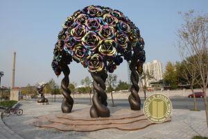 Stainless Steel Sculpture, Metal Sculpture (Bronze-005) pictures & photos