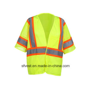 Class 3 ANSI/Isea Standard Customed 100% Polyester Safety Reflective Mesh Vest