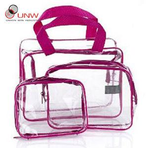 PVC Cosmetic Bag, Transparent PVC Bag (UNW-20120613-04)