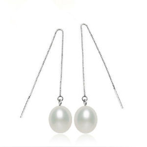 8-9mm Long Line Silver Drop Pearl Earring pictures & photos