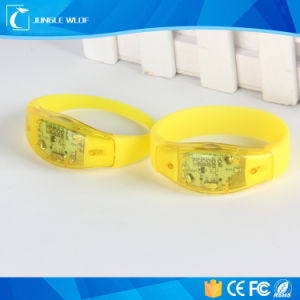 Custom Sound Activated Flashing LED Bracelets Manufacturer pictures & photos