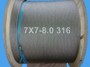 7X7-8.0 Stainless Steel Wire Rope with SGS Certificates (DSCF0506) pictures & photos