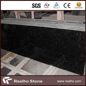 Grade a Polished Black Galaxy Granite Slabs for Tiles / Countertops pictures & photos