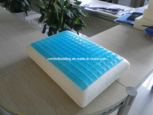Hot Sale Cool Gel Memory Foam Pillow pictures & photos