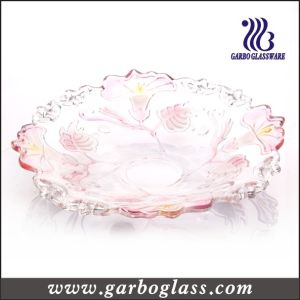 Glass Plate with Morning Glory Design (GB1702QN/P) pictures & photos
