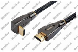 Black Chrome Plug DIY Mounted HDMI Cable pictures & photos
