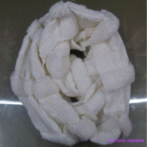 Ladies Winter Fashion Acrylic Knitted Scarf, Hot Selling