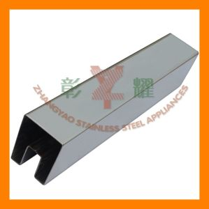 Square Slotted Tube for Handrail Glass System pictures & photos
