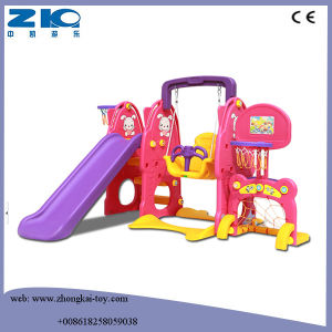 China Indoor Playground Kids Plastic Slide and Swing Set pictures & photos
