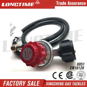 Adjustable 0-20 Psi LPG Gas Pressure Regulator with Hose