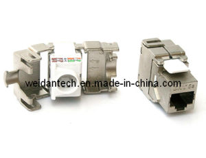 CAT6A FTP Full Shielded Tooless Keystone Jack pictures & photos
