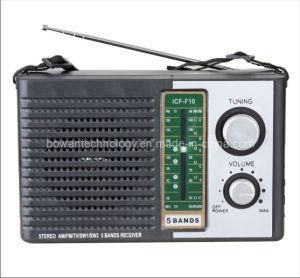 FM/TV/AM/SW1-2 5 Band Radio Receiver (BW-F10)