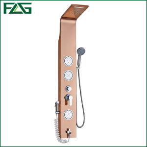 Flg Rose Golden Brushed Nickle Bathroom Waterfall Mirror Shower Panel pictures & photos