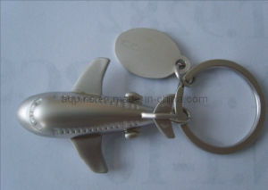 Zinc Alloy 3D Key Chain in Airplane Shape pictures & photos