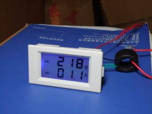 Blue LCD Digital AC Voltmeter Ammeter AC100-300V Voltage Current Meter 2 in 1panel Meter Voltmeter Ammeter AC0-100A