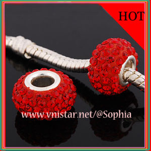 Red 925 Sterling Silver Beads (PSS838)