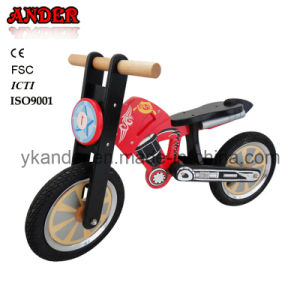 Wooden Motorbike Balance Bike for Kid (ANB-50)