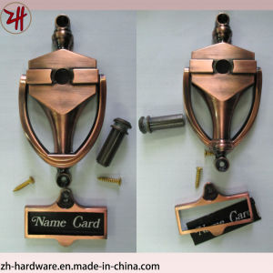 Zinc Alloy Door Knocker with Door Viewer & Name Card (ZH-338)