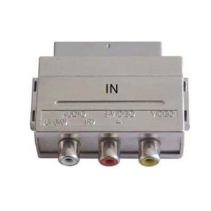 Nickel-Plated Connector Mini Scart Plug to 3RCA Jack Scart Adapter pictures & photos