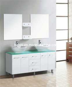 150cm Modern Fashion MDF Bathroom Cabinet Complete Double Basin Bathroom Vanity
