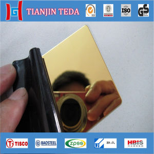 AISI 304 Ti Gold Mirror Stainless Steel Sheet for Decoration pictures & photos