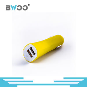 Portable Customized Colorful Dual USB Car Charger pictures & photos