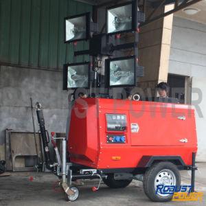 Kubota Portable Hydraulic Galvanized Mast Mobile Light Tower pictures & photos