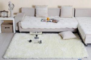 Chinese Hand Made White Silk Carpet