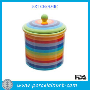 Large Rainbow Ceramic Jar on Sale pictures & photos