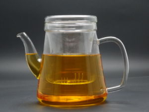 Mouth Blow 900ml Single Wall Glass Teapot pictures & photos