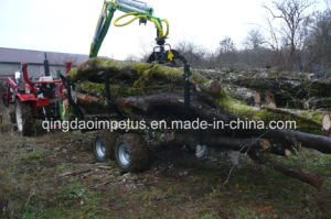 ATV/Tractor Timber/Forest/Log Trailer with Crane Lwc-300 pictures & photos